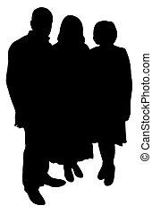Familienporträtsilhouette.
