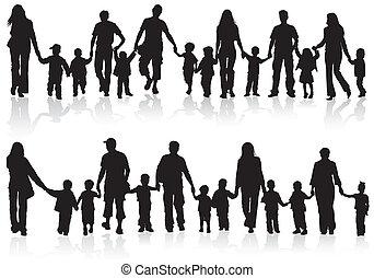 Familiensilhouette sammeln