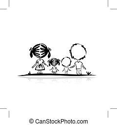 Familienskizze für Ihr Design