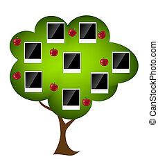 Familienstammbaum Illustration