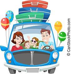 Familienurlaub, Illustration