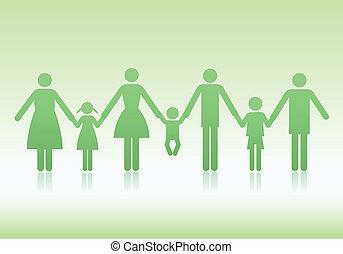 Familienvektor-Ikonen