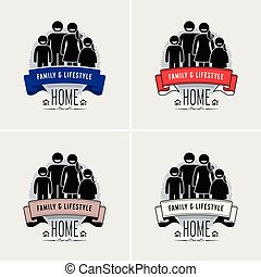 Familienwerte Logodesign.