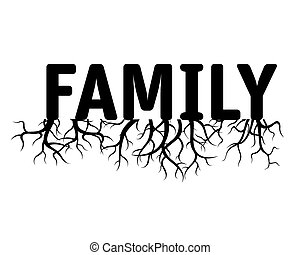 FAMILY grüne Vektorgrafik.