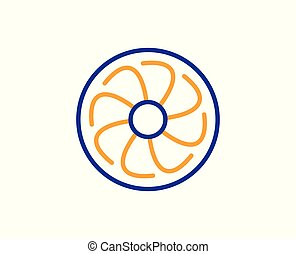 Fan-Motoren-Symbol. Jet Turbinenschild. Vector