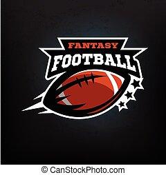 fantasy., amerikanische , fußball