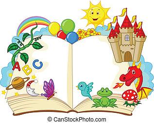 Fantasy-Buch-Cartoon.