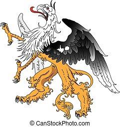 Fantasy griffin stilisierte Tätowierungsvektor.