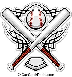 Farb-Baseball- Emblem.