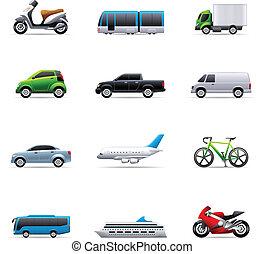 Farb-Ikonen - Transportmittel