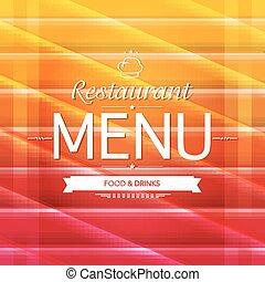Farb-Restaurant-Menü