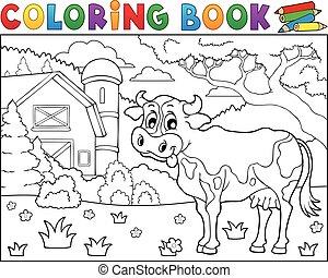 Farbbuch Kuh in der Nähe von Landwirtschaft Thema 2.