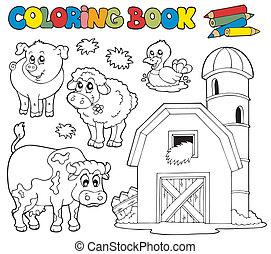 Farbbuch mit Farmtieren 1