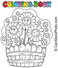 Farbbuch mit Gänseblümchen
