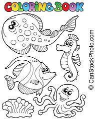 Farbbuch mit Meerestieren 3