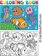 Farbbuch mit Meerestieren 4