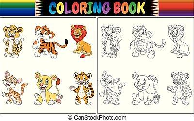 Farbbuch mit Wildkatzensammlung.