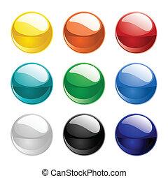 farbe, bereiche, vektor