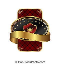 Farbe dekoratives ornates Goldrahmen.