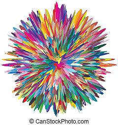 farbe, explosion