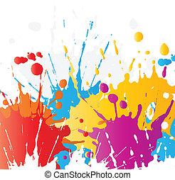 farbe, grunge, splats