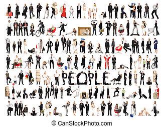 Farbe isolierter Menschen