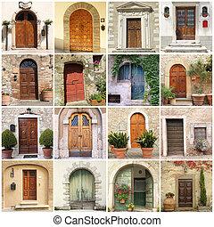 Farbe mit italienischen Türen