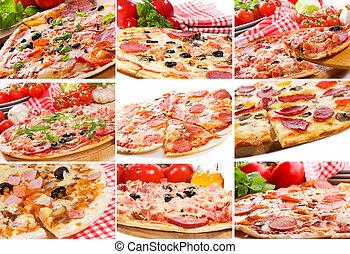 Farbe mit Pizza