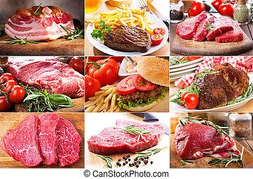 Farbe mit unterschiedlichem Fleisch