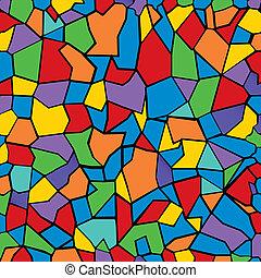 Farbe Mosaik