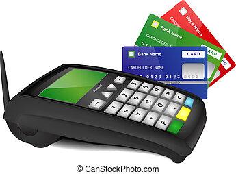 farbe, terminal, karten, zahlung, bank