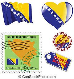 farben, national, bosnien