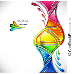 farben, spritzen, vektor, verschieden