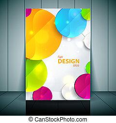 Farbige 3D-Kreise - Business Flyer Vorlage Vektor Design.