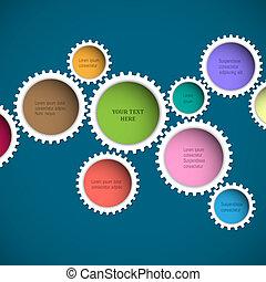 Farbige abstrakte Räder