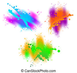 Farbige abstrakte Vektoren