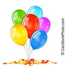 Farbige Ballons zum Geburtstagsfeier.
