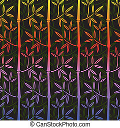 Farbige Bambus Tapete