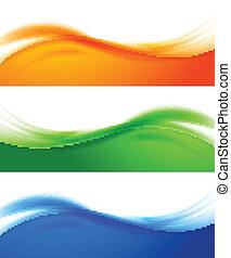 Farbige Banner.
