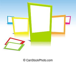 Farbige Bilderrahmen in Vektorkunst