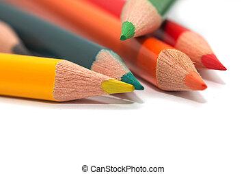 Farbige Bleistifte. Macro