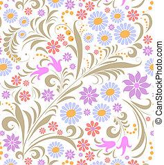 Farbige Blume auf weißem Hintergrund