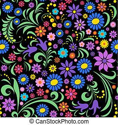 Farbige Blume im schwarzen Hintergrund