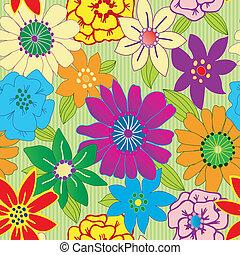 Farbige Blume nahtlos und wiederholt Hintergrund