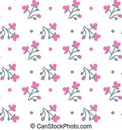 Farbige Blumen auf weißem Hintergrund nahtlos Muster.