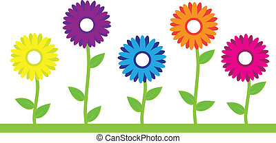 Farbige Blumen