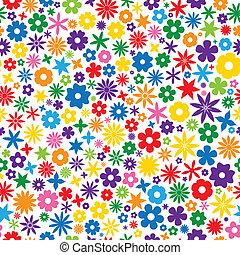 Farbige Blumenfliesen