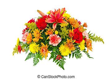 Farbige Blumenstraußvereinbarung
