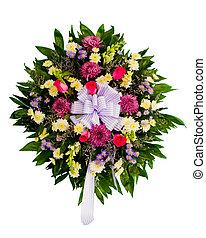 Farbige Blumenvereinbarung