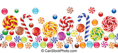 Farbige Bonbons, Obstbonbon, Lutscher
